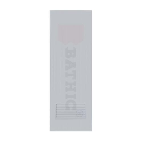 BATHIC ประตูพีวีซี ขนาด 90x197 ซม.  (ไม่เจาะ)  BC2 สีเทา