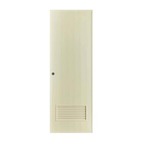 BATHIC ประตูพีวีซี ขนาด 60x180 ซม.  (เจาะ)  BS2 สีครีม