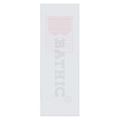 BATHIC ประตูพีวีซี  ขนาด 70x200 ซม.  (ไม่เจาะ) BC3 สีขาว