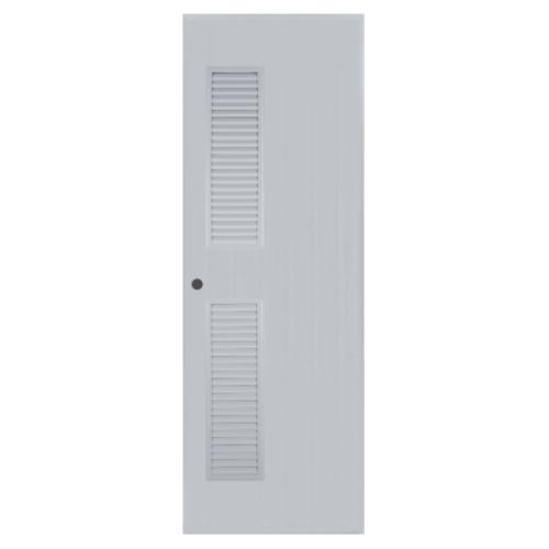 BATHIC ประตูพีวีซี ขนาด 70x180 ซม.  (เจาะ)  BC6 สีเทา