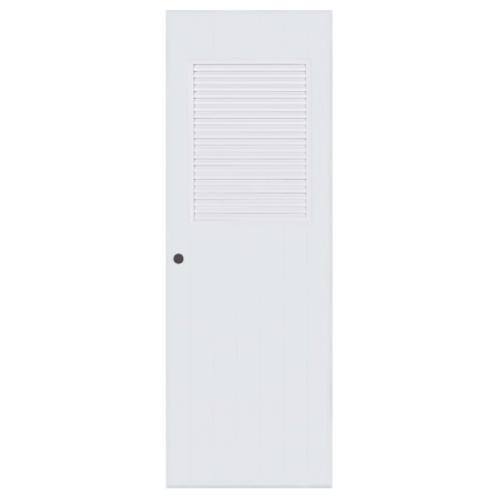 BATHIC ประตูพีวีซี  ขนาด 70x200 ซม.  (เจาะ) BC3 สีขาว