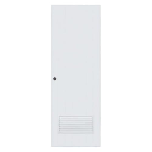 BATHIC ประตูพีวีซี ขนาด 90x200 ซม.  (เจาะ) BC2 สีขาว