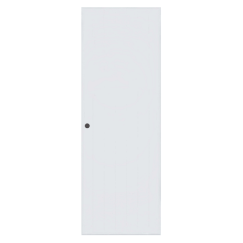 BATHIC ประตูพีวีซี ขนาด 90x200 ซม.(เจาะ) BC1 สีขาว