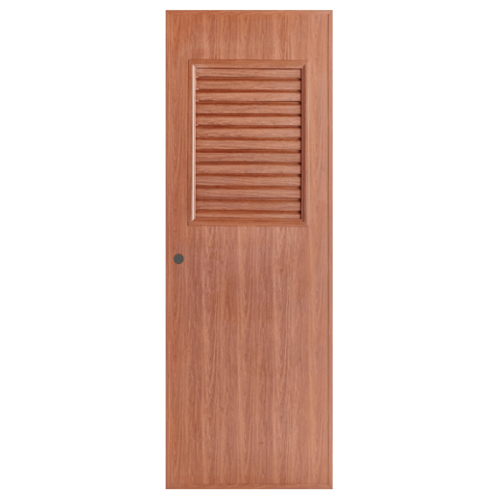 BATHIC ประตูพีวีซี  ขนาด 70x200 ซม. สีทีค (เจาะ) BL3