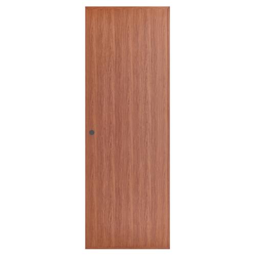 BATHIC ประตูพีวีซี ขนาด 70x180 ซม. สีทีค (เจาะ) BL1