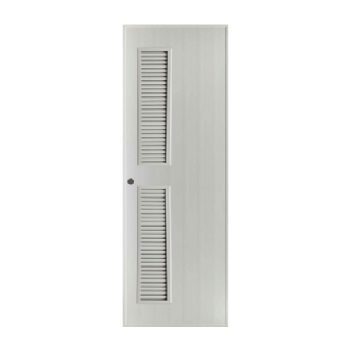 BATHIC ประตูพีวีซี  ขนาด 70x180 ซม.  (เจาะ)  BS6 สีเทา