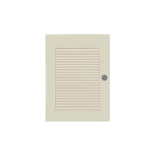 BATHIC ประตูพีวีซี เกล็ดเต็มบาน ขนาด 70x80ซม.  (เจาะ)  BS4 สีครีม