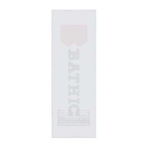 BATHIC ประตูพีวีซี เกล็ดล่าง ขนาด 80x200 ซม. (ไม่เจาะ) BC2 สีขาว
