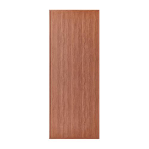 BATHIC  ประตูพีวีซีลายไม้ บานเรียบ ขนาด 70x180ซม. สีไม้สัก (ไม่เจาะ) BL1