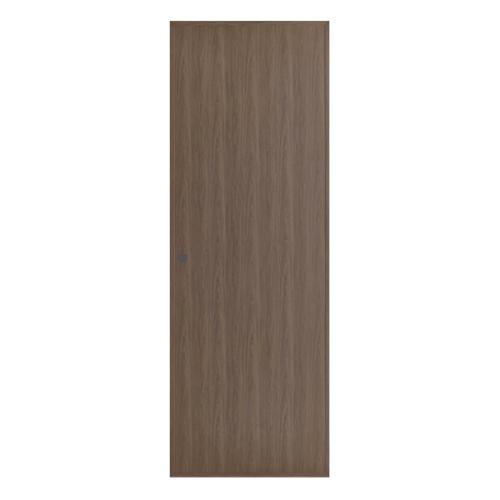 BATHIC ประตูลายไม้ ขนาด 70x200ซม. สีโอ๊ค (เจาะรูลูกบิด) โอ๊ค