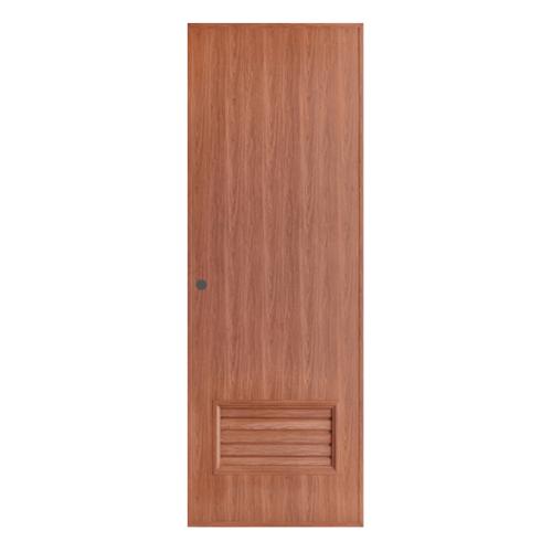 BATHIC ประตูพีวีซี เกล็ดล่าง  ขนาด70x200ซม. สีสัก (เจาะ)  BL2
