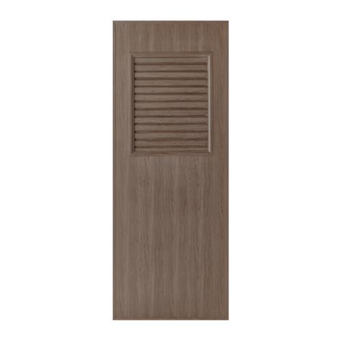 BATHIC  ประตูพีวีซีลายไม้ เกล็ดครึ่งบานบน ขนาด 70x200ซม. สีโอ๊ค (ไม่เจาะ) BL3