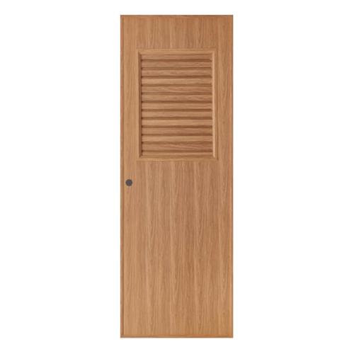 BATHIC  ประตูพีวีซี เกล็ดครึ่งบานบนขนาด 70x200ซม. สีบีชลายไม้ (เจาะ) BL3