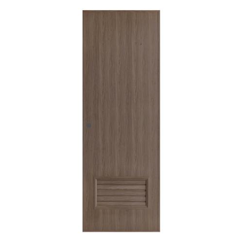 BATHIC ประตูพีวีซีลายไม้ เกล็ดล่าง ขนาด 70x200ซม. สีโอ๊ค (เจาะ)  BL2