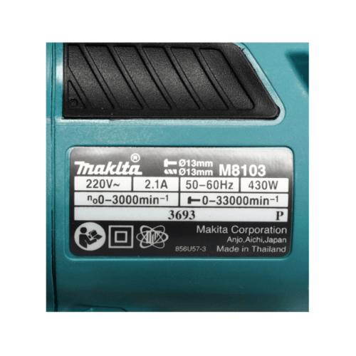 MAKITA สว่านกระแทก 13 มิล (430W) M8103B สีฟ้า