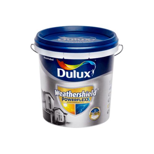 Dulux เวเธอร์ชีลด์พาวเวอร์เฟล็กกึ่งเงา เบสD 9L Weathershield Powerflexx