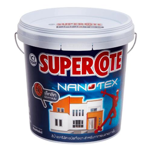Dulux สีภายนอก 001 กล. Supercote NANOTEX สีขาว