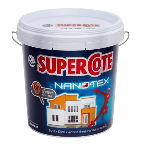 Dulux ซูเปอร์โคท นาโนเท็กซ์ สีน้ำภายนอก เบส B 9L Supercote NANOTEX