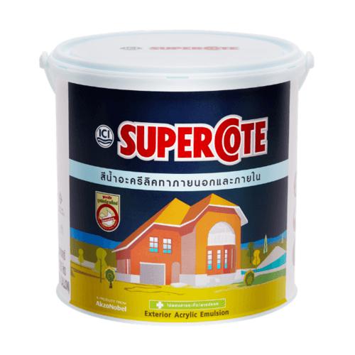 Dulux สีน้ำทาภายนอก ซูเปอร์โคท สีขาวซุปเปอร์ไวท์ #511 ขนาด 1 กล. Supercote สีขาว