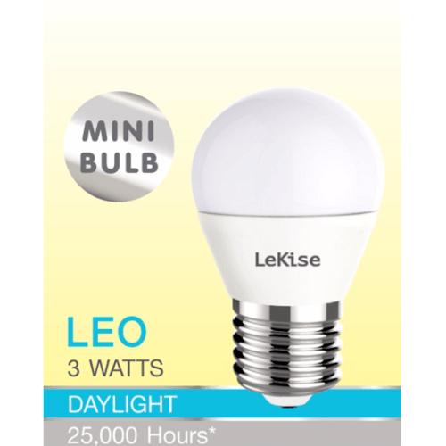 LEKISE หลอดไฟ LED 3W.DL  (หลอดปิงปองแบบขุ่น)  สีขาว