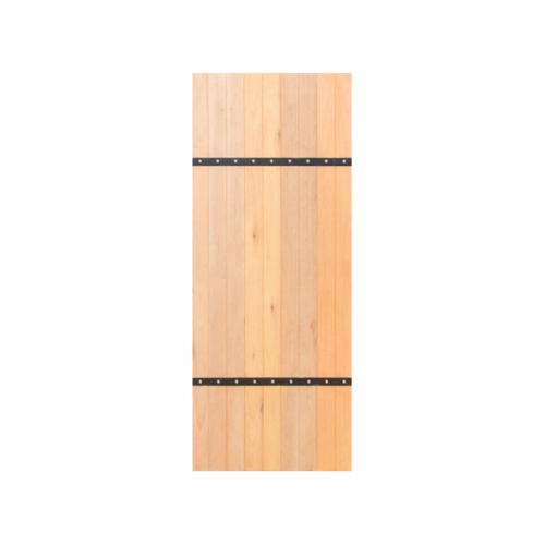 MAZTERDOOR ประตูไม้สยาแดง บานทึบสายฝน  ขนาด 100x200ซม.  MX-04