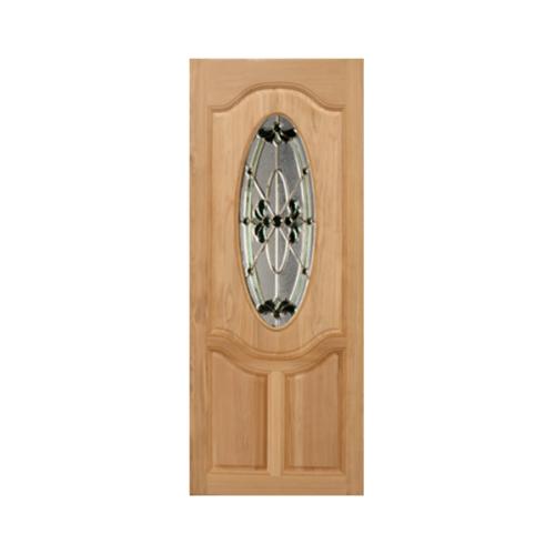 MAZTERDOOR ประตูไม้เนื้อแข็ง ลูกฟักพร้อมกระจก ขนาด 90x220ซม.   ORCHID-08