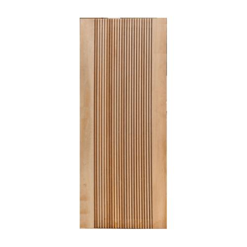 MAZTERDOOR ประตูไม้สยาแดง บานทึบทำร่อง ขนาด 100x200ซม. NM-06