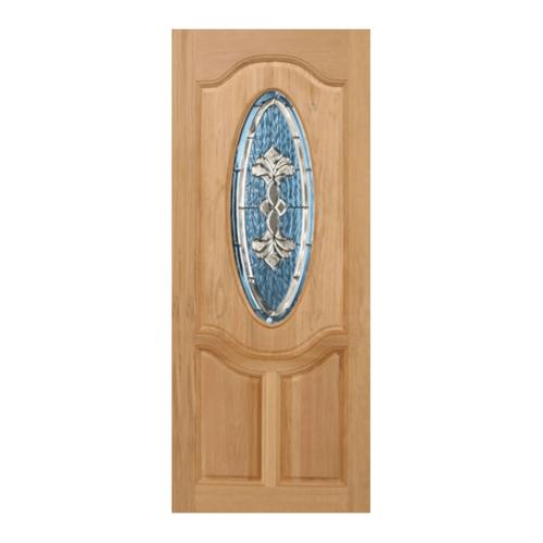 MAZTERDOOR ประตูกระจกไม้สยาแดง 80x200 cm. orchid-09