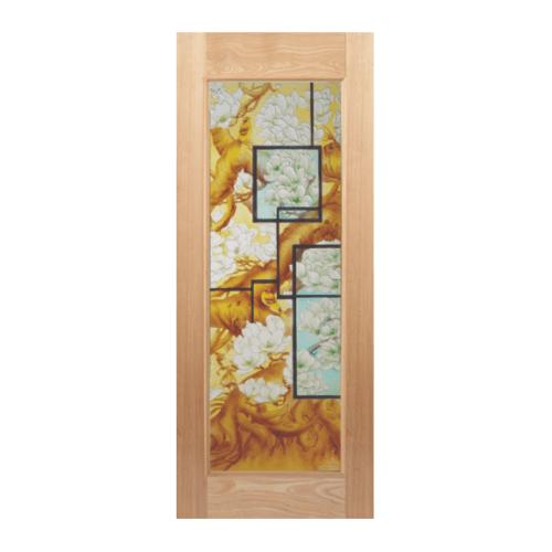 MAZTERDOOR ประตูไม้สยาแดง ขนาด (80x200cm.) Master007