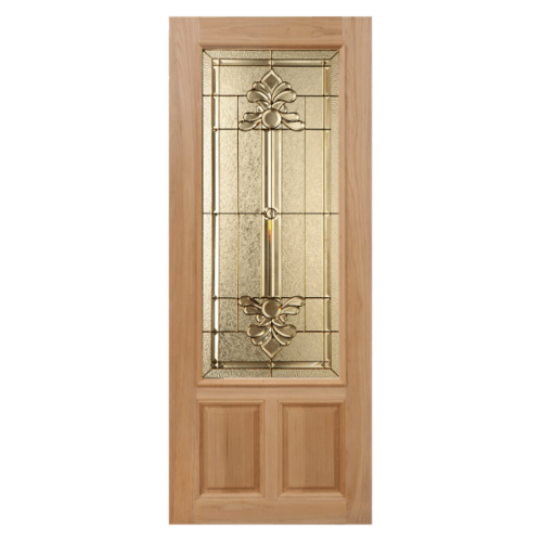 Masterdoors ประตูกระจกไม้สยาแดง  80x200 cm. Lotus-08
