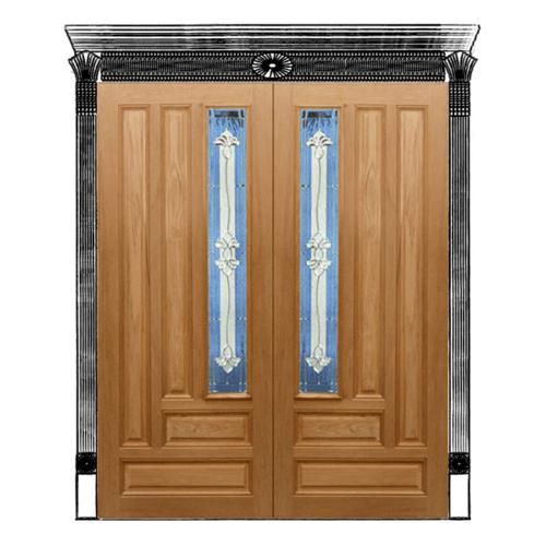 MAZTERDOOR ประตูไม้สยาแดง ขนาด 80x200 cm. Jasmine-09A