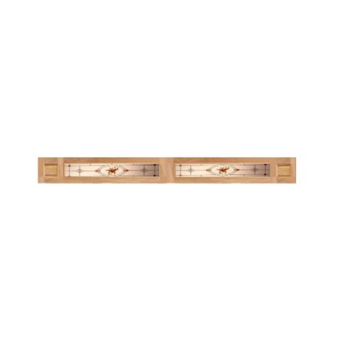 MAZTERDOOR ประตูกระจกไม้สยา 31 x 233 cm. SS02/2(Upper side)