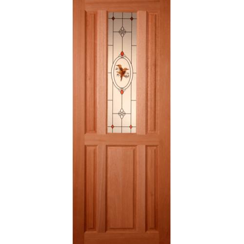 Masterdoors ประตูไม้สยาแดง ขนาด 70x200 cm.  ss-01/2