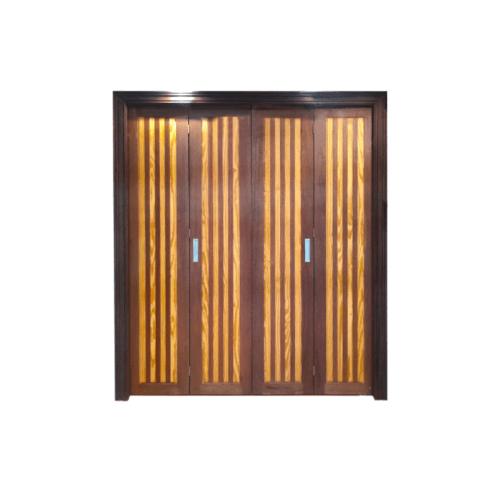 MAZTERDOOR เซทบานเฟี่ยมไม้สยาแดง นอกแบบ  ขนาด 180x200 cm