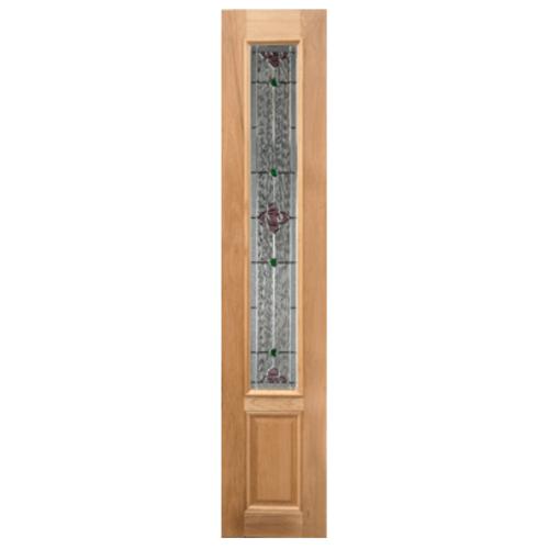 MAZTERDOOR ประตูกระจกไม้นาตาเซีย 40x160 cm. Jasmine-06 40x160 cm.