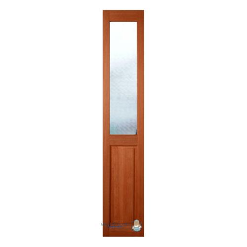 MAZTERDOOR  ประตูไม้สยาแดง ลูกฟักพร้อมกระจกใส ขนาด50x200ซม. SL-01
