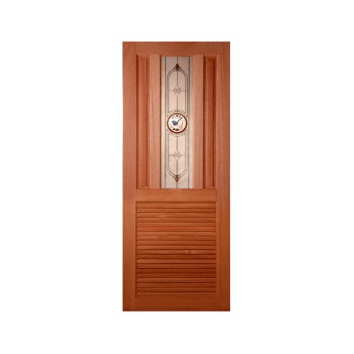 MAZTERDOOR ประตูกระจกไม้สยาแดง SS01/1(เกล็ดล่าง)ขนาด70X200cm.  SS01/1(เกล็ดล่าง)