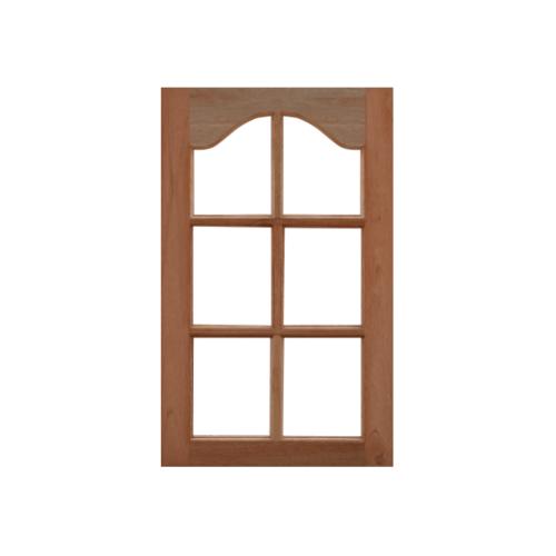 MAZTERDOOR หน้าต่างไม้สยาแดง ไม่ใส่กระจก ขนาด50X100cm. WD-04