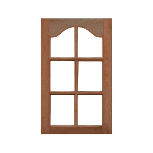 MAZTERDOOR บานหน้าต่างไม้สยาแดงปีกนก (กระจก6ช่อง) ขนาด 60x100ซม. -