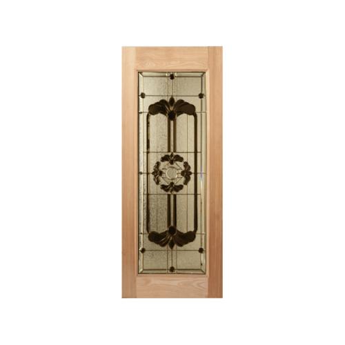 MAZTERDOOR  ประตูไม้สยาแดง กระจกเต็มบาน100x200ซม.  LOTUS-06