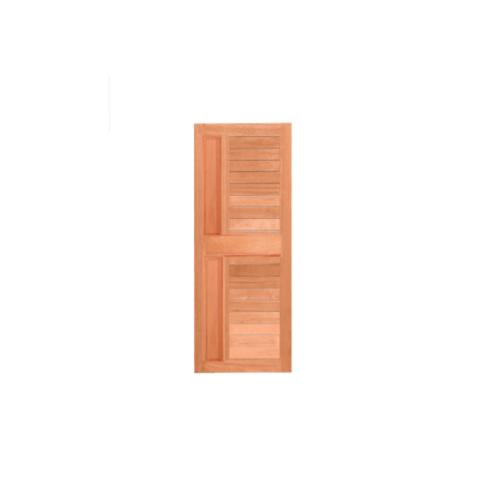MAZTERDOOR ประตูไม้สยาแดง บานทึบทำร่องพร้อมลูกฟักแนวตั้ง  ขนาด 80x200ซม.