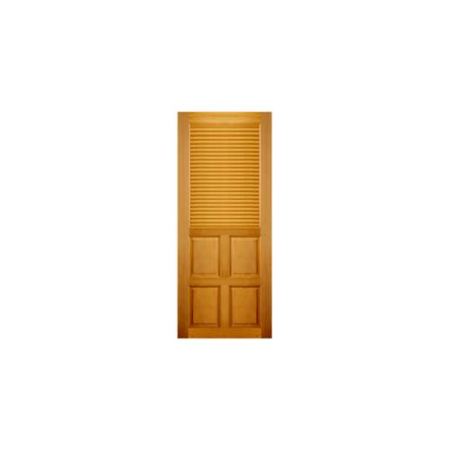 MAZTERDOOR  ประตูไม้สยาแดง 4ฟักพร้อมเกล็ดครึ่งบานบน ขนาด  70x200ซม. G939