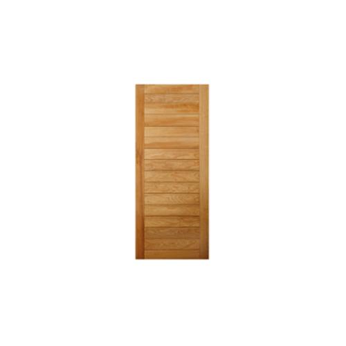 MAZTERDOOR ประตูไม้เนื้อแข็ง บานทึบทำร่อง ขนาด80x200ซม.  NM-01