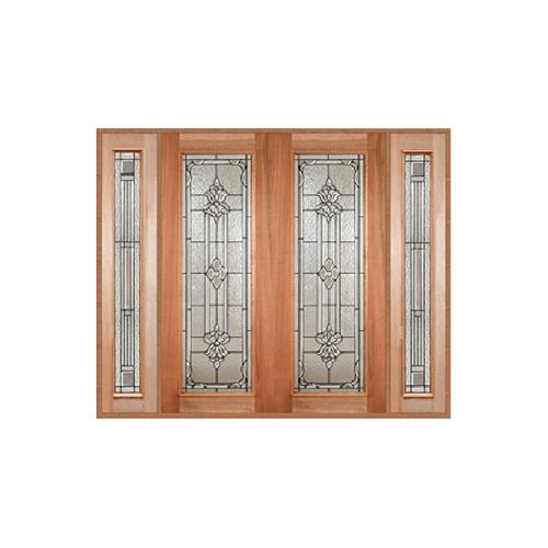 MAZTERDOOR ประตูไม้สยาแดง SET3 ขนาด 260X220cm.  LOTUS-11