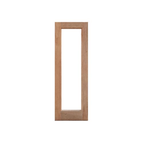 MAZTERDOOR  บานหน้าต่างไม้สยาแดงกระจกใสเต็มบาน ขนาด 50x150ซม. DF-01