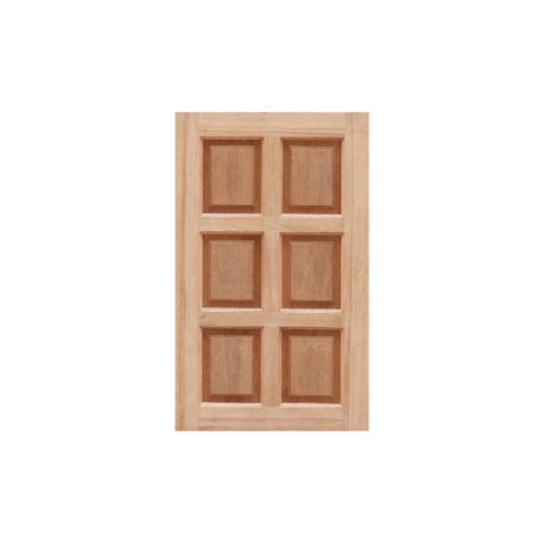 MAZTERDOOR  บานหน้าต่างไม้สยาแดงบานทึบ 6ฟัก ขนาด 40x100ซม. WD-07
