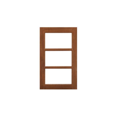 MAZTERDOOR บานหน้าต่างไม้สยาแดง(โปร่ง)ขนาด 40x200ซม. บันไดลิง3ช่อง