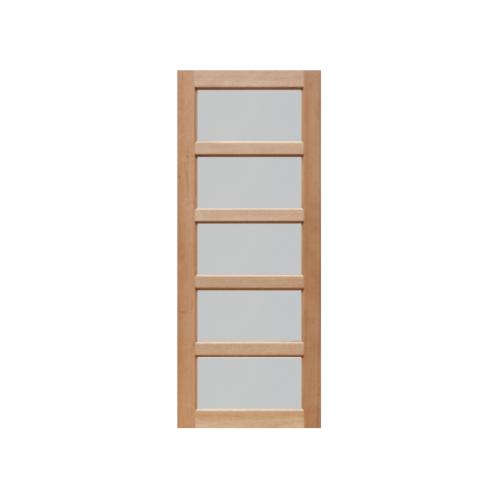 MAZTERDOOR ประตูกระจกไม้เนื้อแข็ง (กระจกฝ้า) ขนาด80X180cm. MD1/2