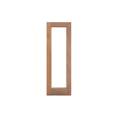 MAZTERDOOR  หน้าต่างไม้สยาแดง ทำช่องกระจกเต็มบาน(โปร่ง)  ขนาด 47x108.8ซม.