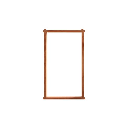 MAZTERDOOR  วงกบหน้าต่างไม้สยาแดง 1ช่อง   ขนาด80x160ซม.